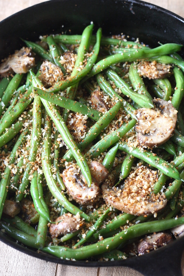 Miso Green Beans with Mushrooms with Spicy Panko by SeasonWithSpice ...