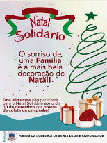 Natal Solidário - Doe Alimentos Não Perecíveis