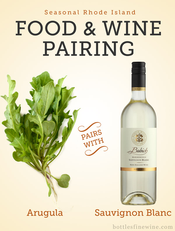 "arugula ""sauvignon blanc"" food wine pairing idea"