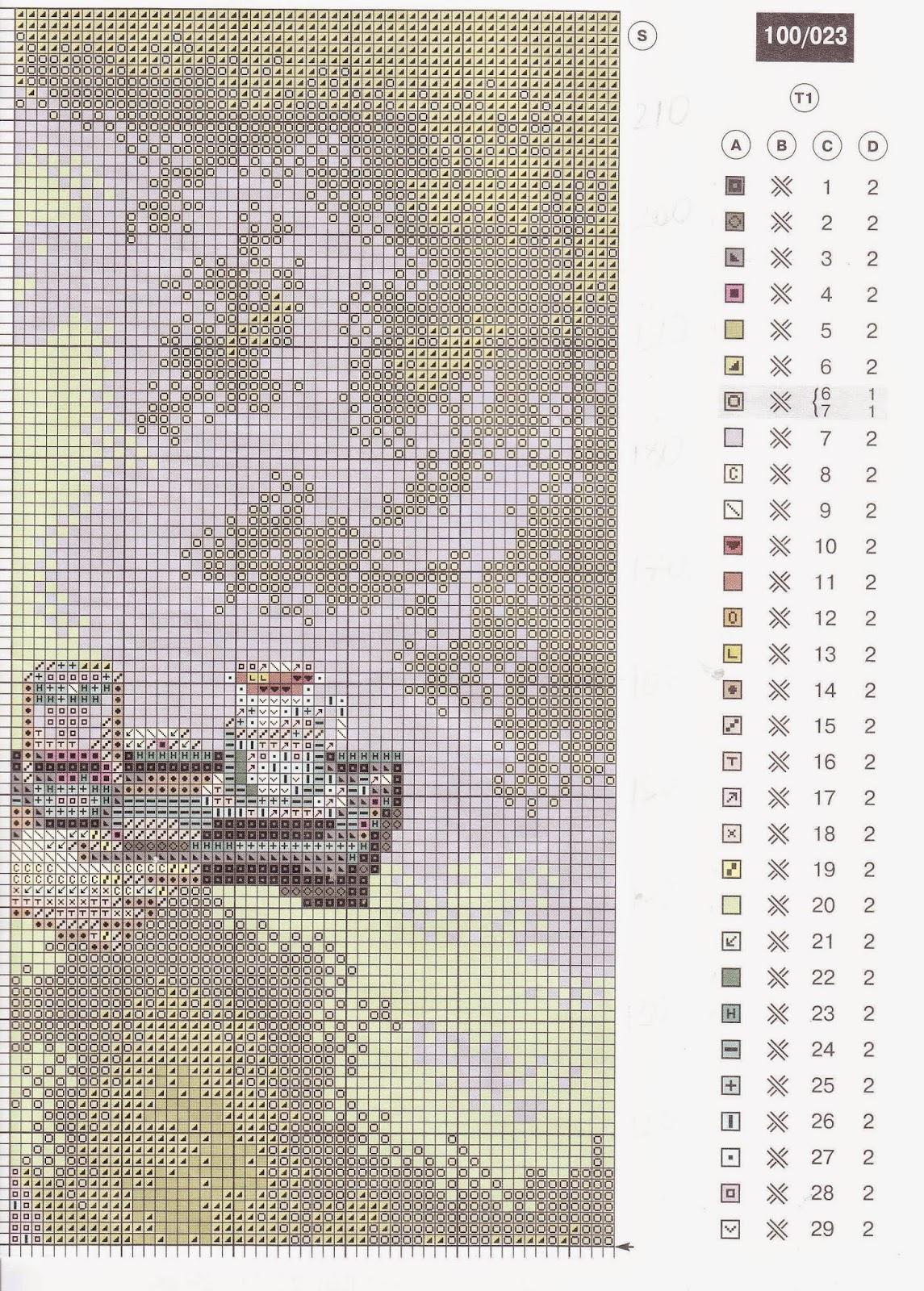 Картины известных художников схемы вышивки крестом 64