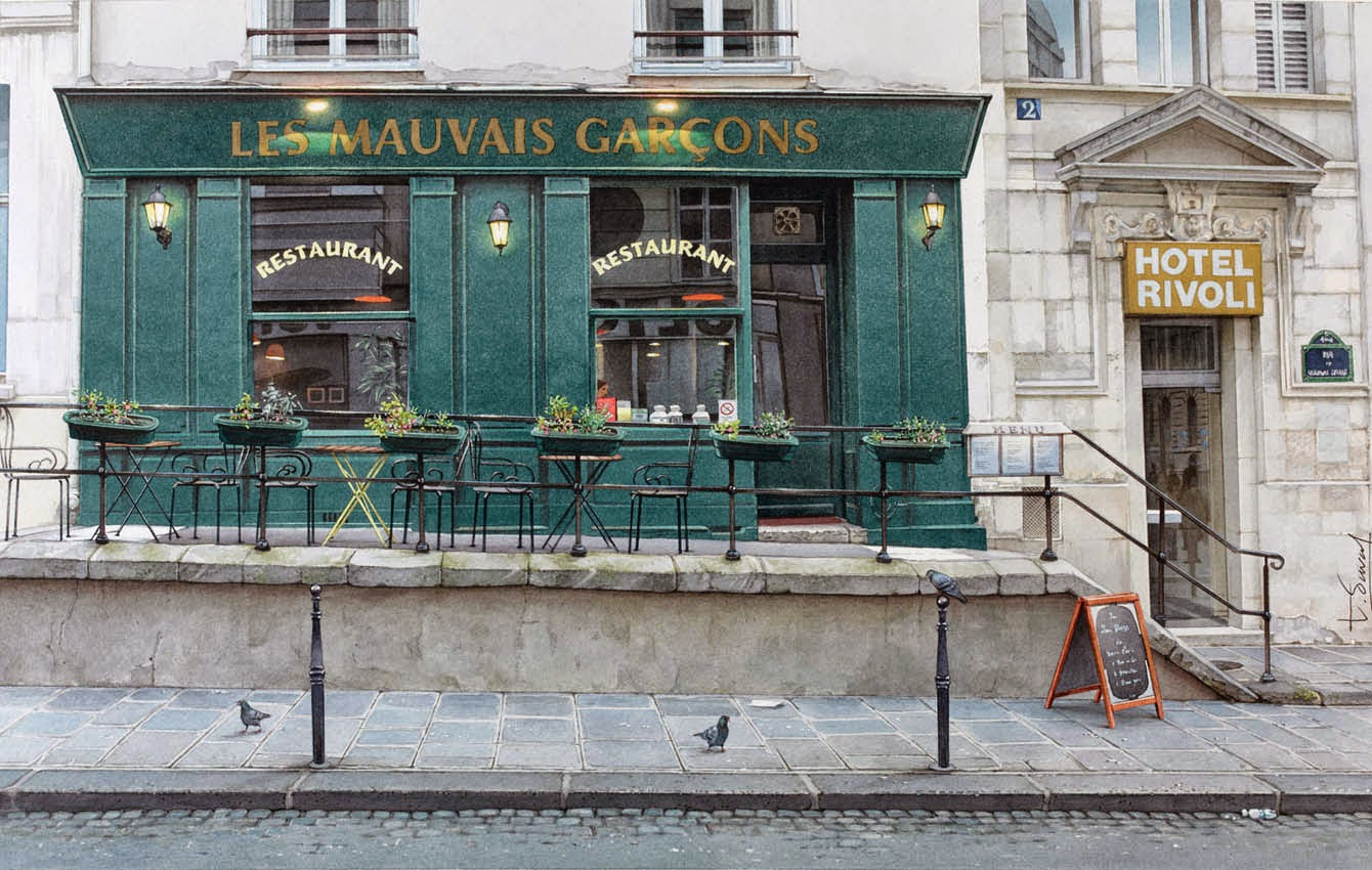 27-Thierry-Duval-Snippets-of Real-Life-in Watercolor-Paintings-www-designstack-co