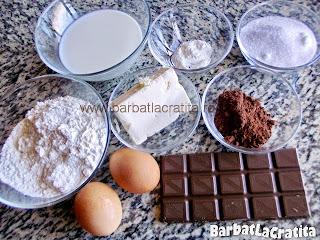 Chec cu ciocolata ingrediente reteta