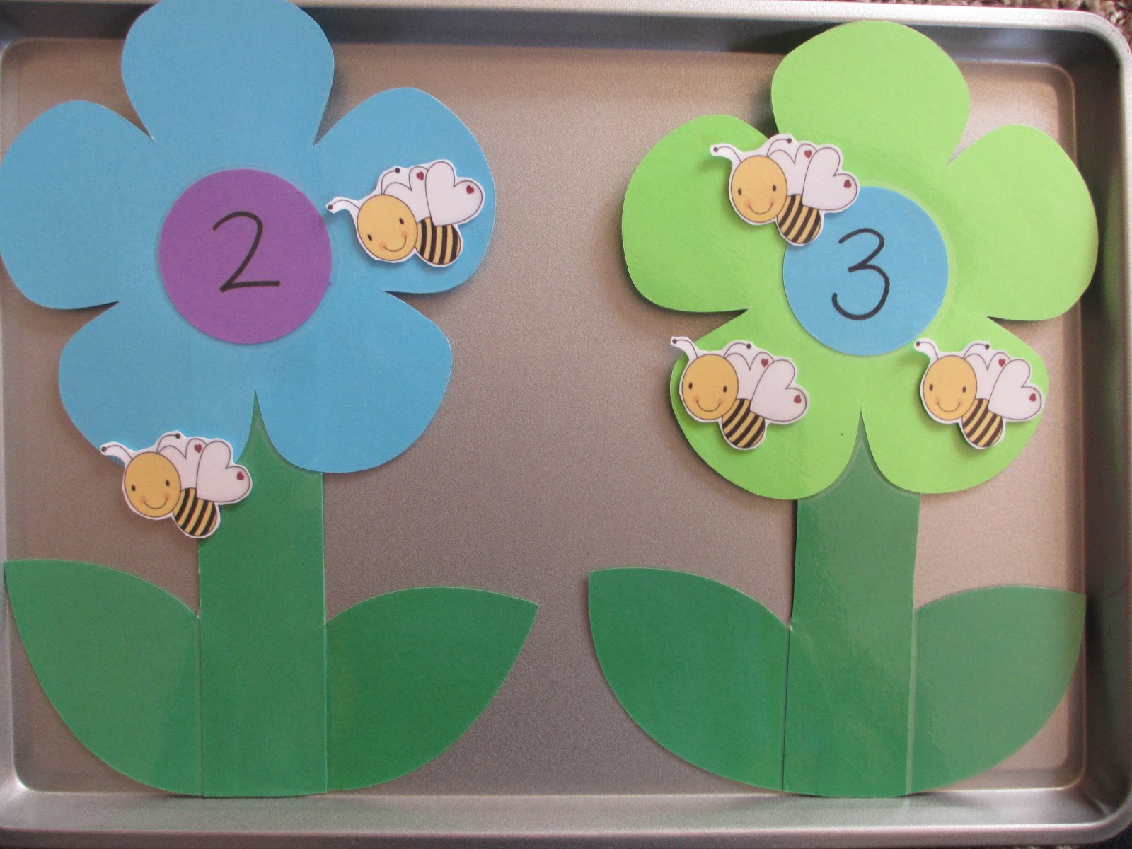 Teaching Munchkins Mighty Math Powers With Flowers JPG 1600x1200 Preschool Flower Counting Charts