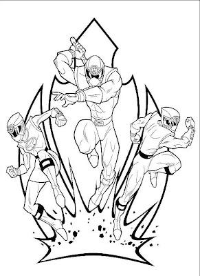 Power Ranger Para Dibujar Pintar Colorear Imprimir