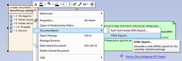 generowanie Virtual Report w formacie HTML