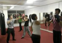 Εικόνες από μάθημα Taekwodo και Kick Boxing στο Fighting Spirit Club στη Ζωγράφου.