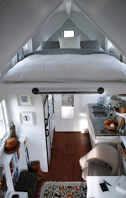 using attic space for loft bed