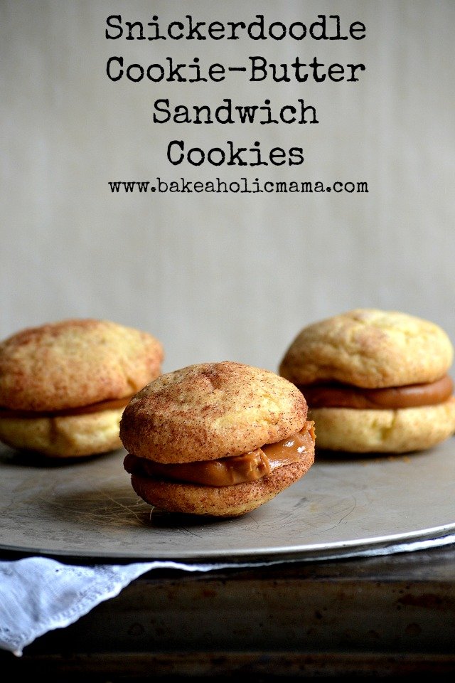 Bakeaholic Mama: Snickerdoodle Cookie-Butter Sandwich Cookies