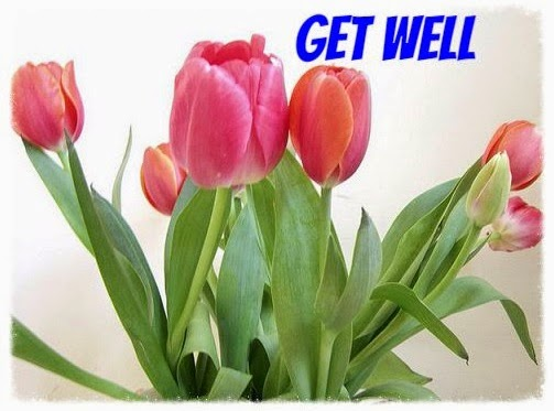 get well card tulips
