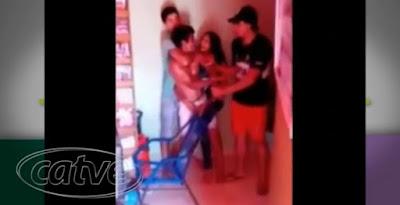 ladrão é preso por mulher paraguaia pelo bilau