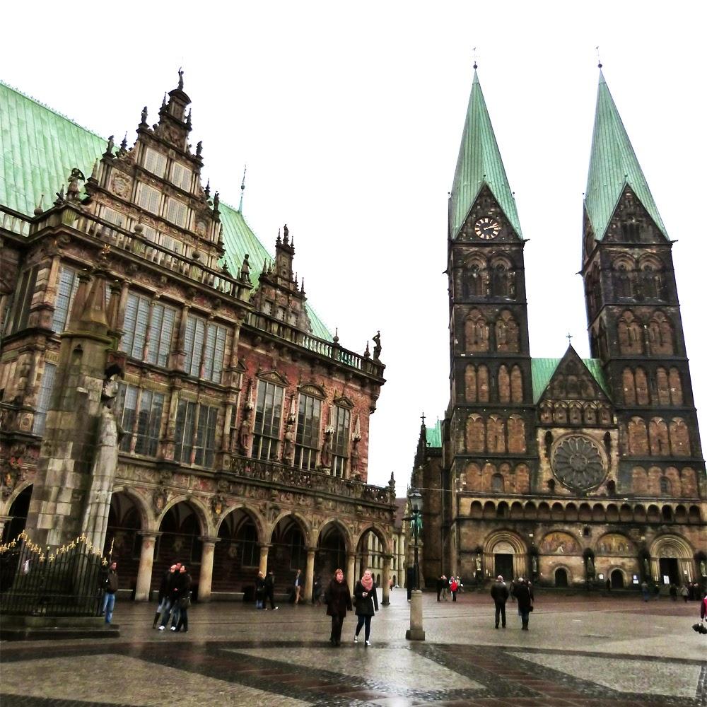 Ein Tag in Bremen, Sehenswürdigkeiten wie Rathaus und Sankt Petri Dom