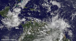 Achtung in der Karibik: Modelle zeigen Hurrikan RINA und Hurrikan SEAN im Anmarsch, Rina, Sean, Karibik, Atlantik, Oktober, 2011, Vorhersage Forecast Prognose, Verlauf, Zugbahn, aktuell, Hurrikansaison 2011, Satellitenbild Satellitenbilder,