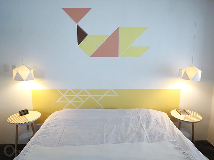peindre tête de lit, DIY tête de lit, faire sa tête de lit soi-même