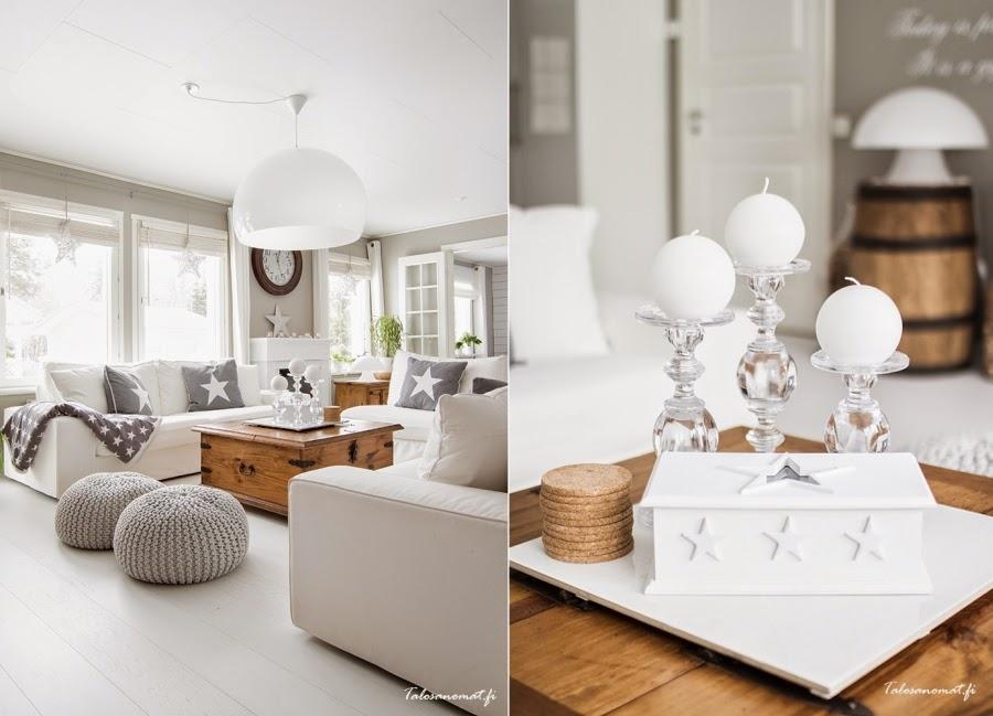 wnętrza, wystrój wnętrz, home decor, dom mieszkanie, urządzanie, dekoracje, gwiazda, gwiazdki, motyw, star, szarości, biel, białe wnętrza, salon, pokój dzienny