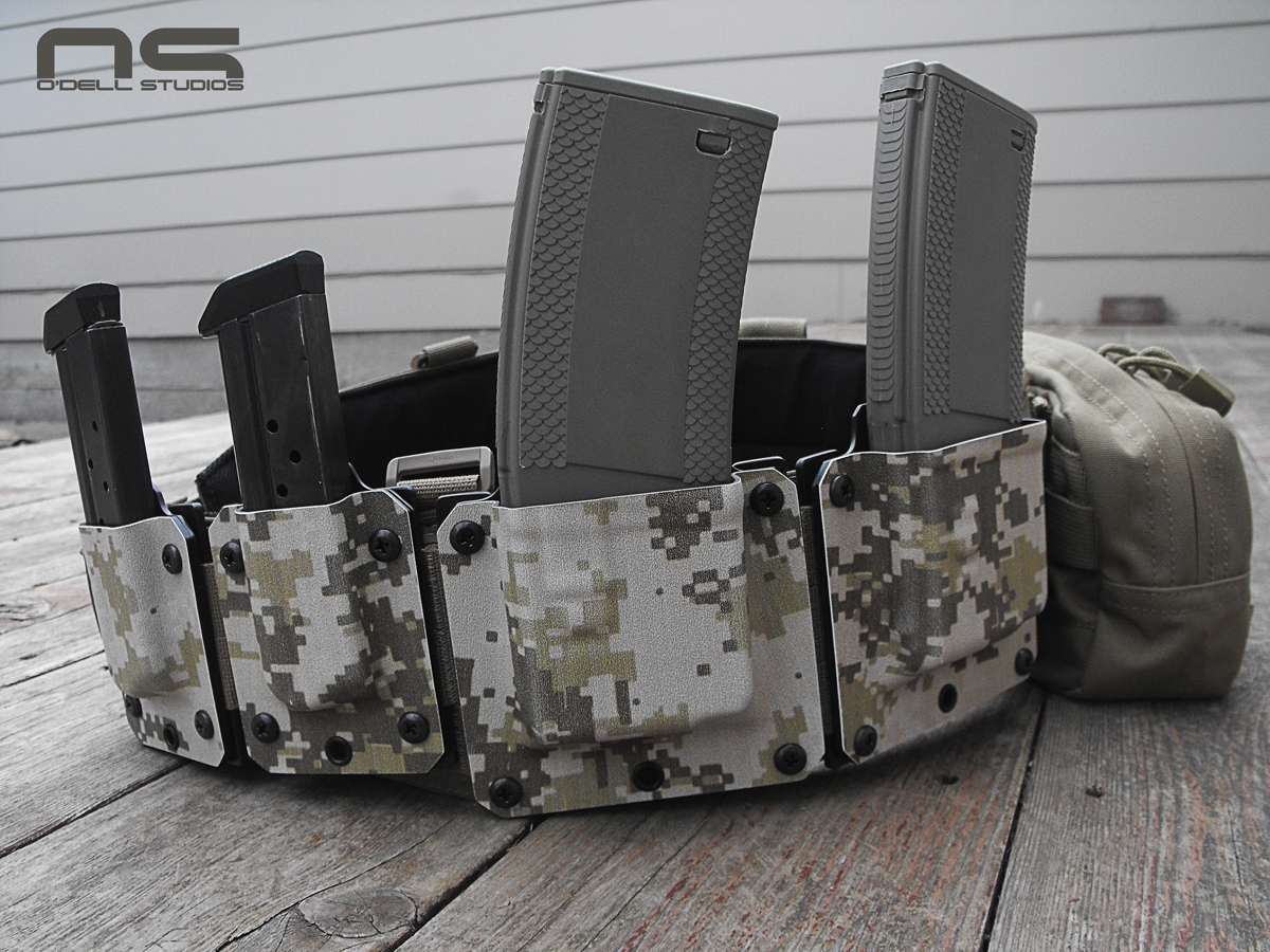 digital camo kydex magazine carriers