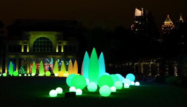 Wanderlust Atlanta Garden Lights On Christmas Night