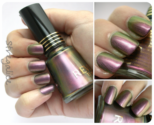 Revlon Kiwizing vintage duochrome swatches purple green