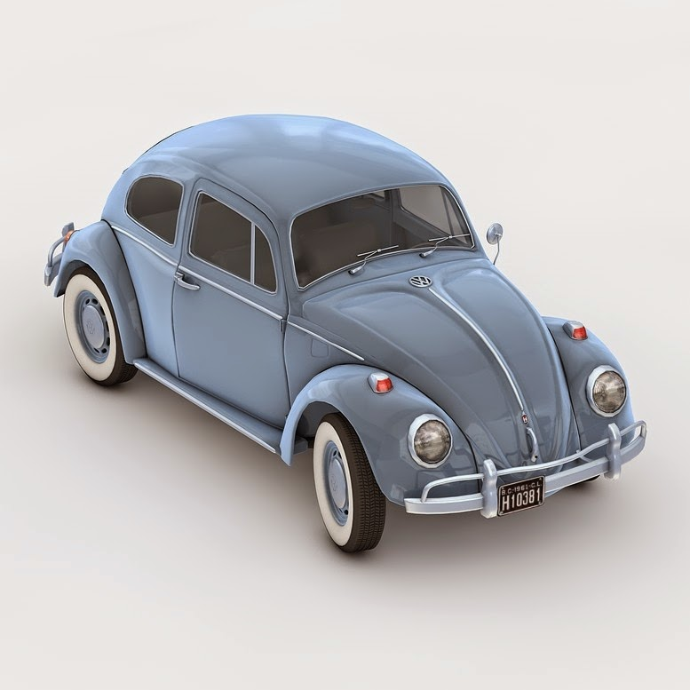 Vw 1600 Max Rpm: 3D And 2D Graphic: 3D Model Of VW Beetle 1968