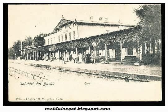 Gara din Bacaul de odinioara