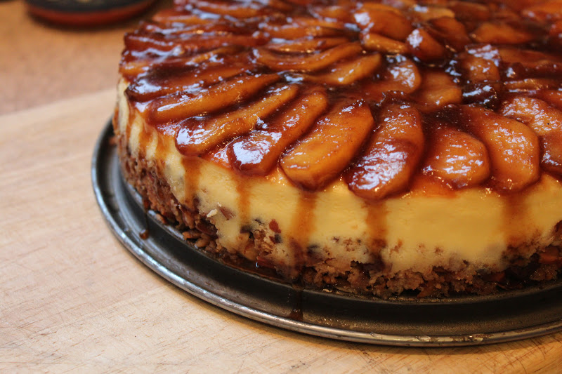 Apple-Almond Cheesecake | Reestablishing the Food Connection