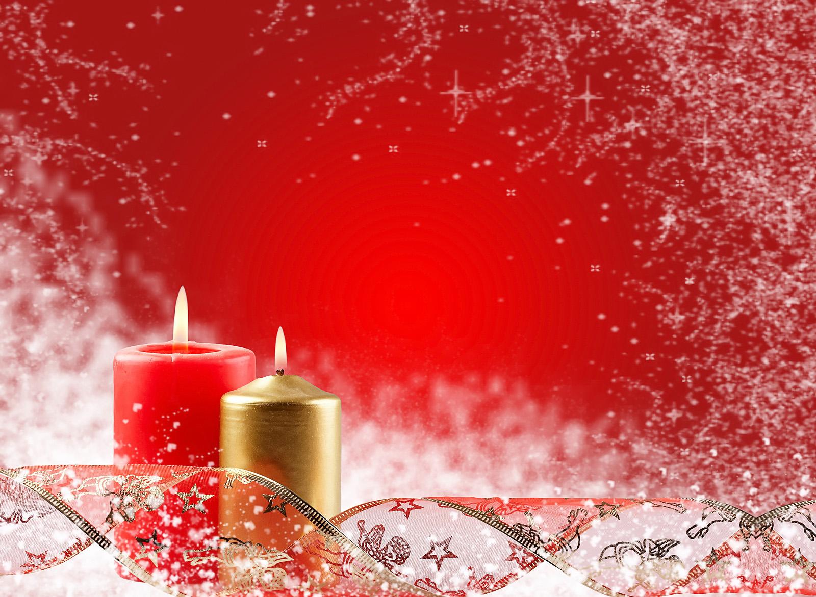 Free Christmas Wallpapers: Christmas Candles Wallpapers