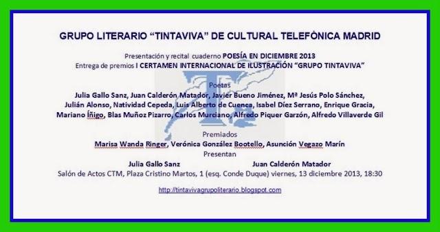 Grupo Literario Tinta Viva: Recital y entrega de Premios