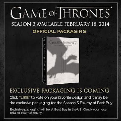 Game of Thrones - Season 3 - BD/ DVD Release Date and Fan Vote on Alternate Covers