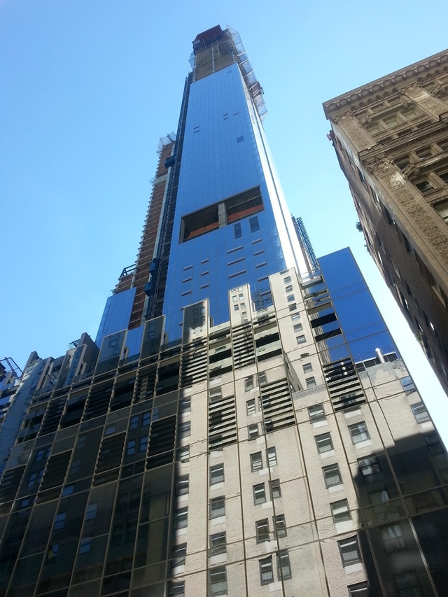Photo of One57 under construction almost reached it&#39;s full height
