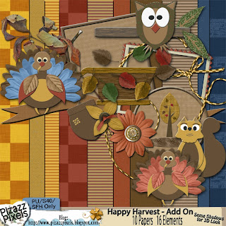 Newly Released Products from Pizazz Pixels - Happy Harvest