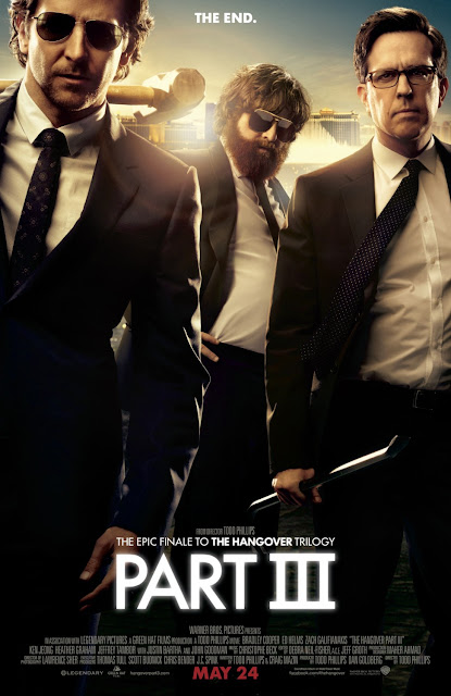"The Hangover Part III ""The End"" Character Movie Posters - Bradley Cooper as Phil, Zach Galifianakis as Alan & Ed Helms as Stu"