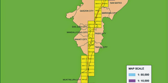 Marikina Fault Line Map - middle