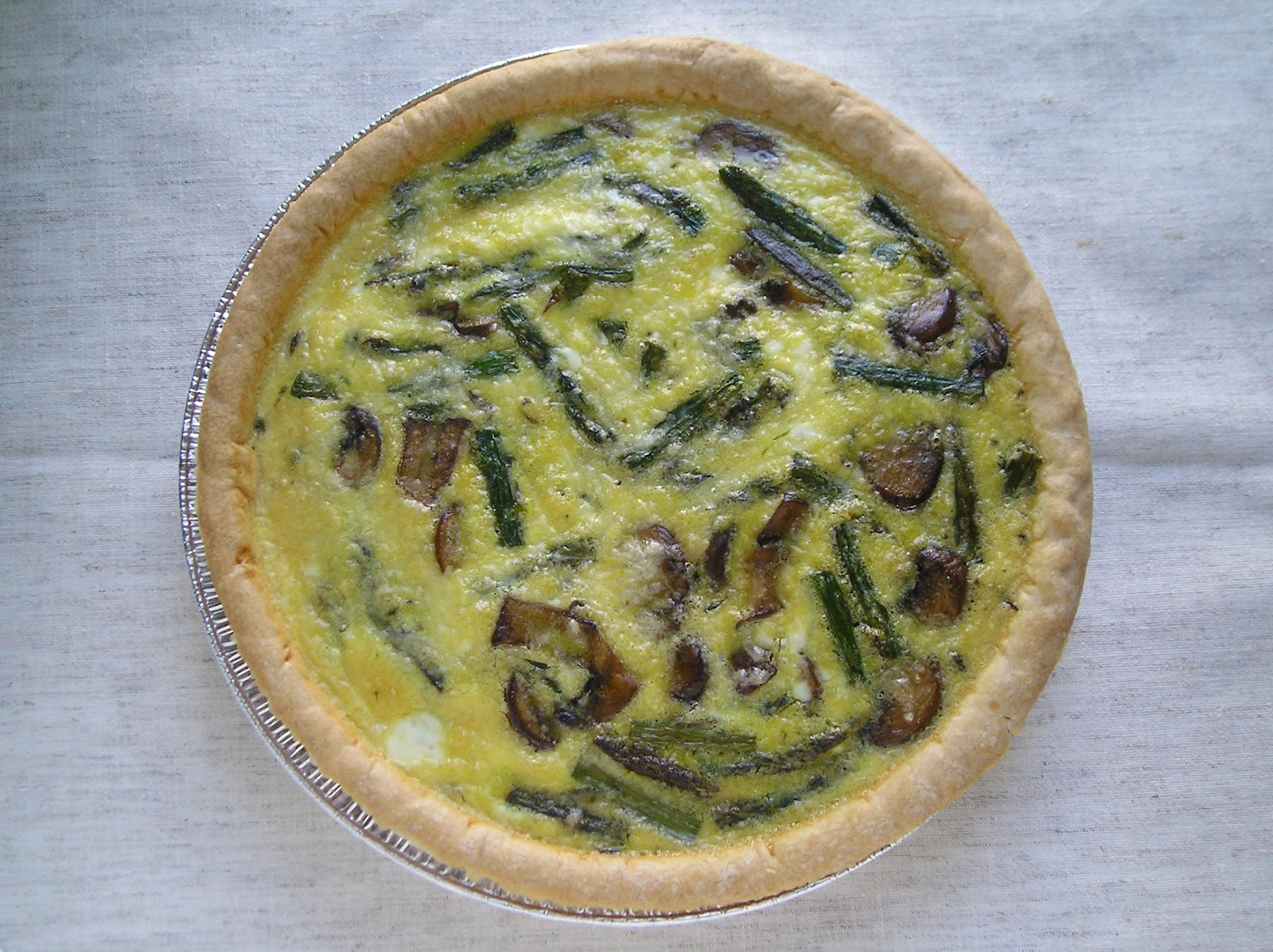 Roasted Asparagus and Mushroom Quiche ~ Edesia's Notebook