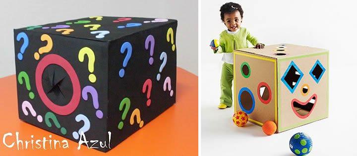 13 juegos hechos con cajas de cart n m s chicos - Decorar una caja de zapatos para ninos ...