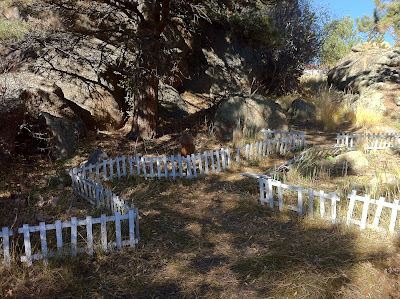 Pet cemetery at the haunted Stanley Hotel in Estes Park, Colorado #ColorfulColorado #Colorado www.thebrighterwriter.blogspot.com
