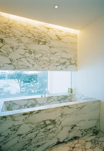 mesada de marmol minimalista