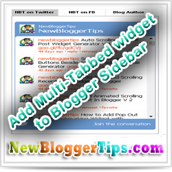 Add Multi-Tabbed widget to Blogger Sidebar