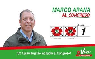 Marco Arana, candidato N° 1 por Cajamarca de FRENTE AMPLIO