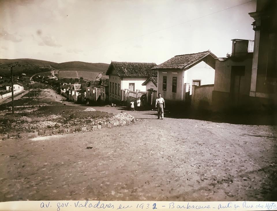 Avenida Governador Benedito Valadares de Barbacena MG 1932