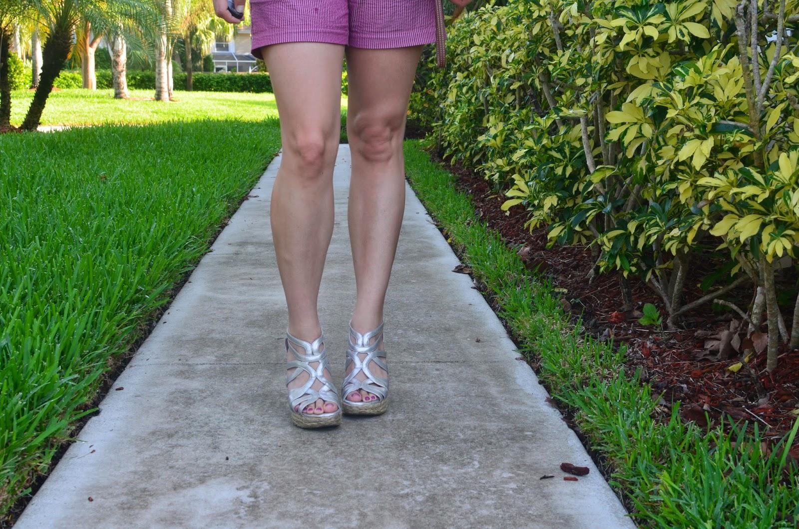 seersucker shorts - espadrilles