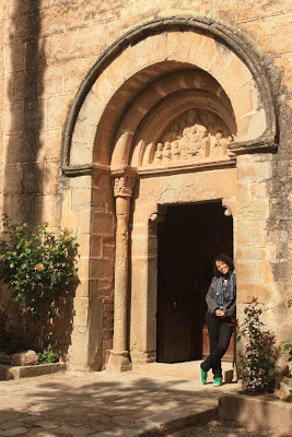 Doorway of Sant Marti romanesque church in Mura