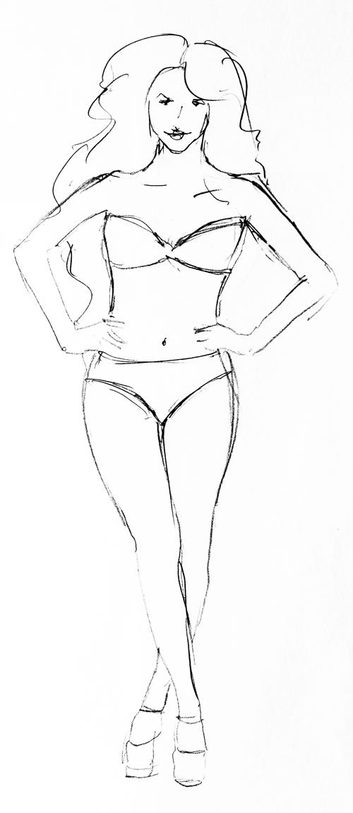 Human Body Template Fashion Design Fashion Design Body Outline