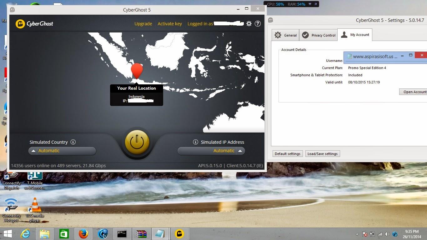 CyberGhost VPN 5 Full License Key - MirrorCreator