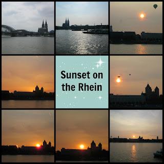 Rhein sunset Koln lichter