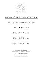 Öffnungszeiten Laden