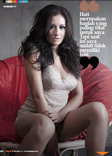 hot Shinta Bachir for Male Magazine, November 2012