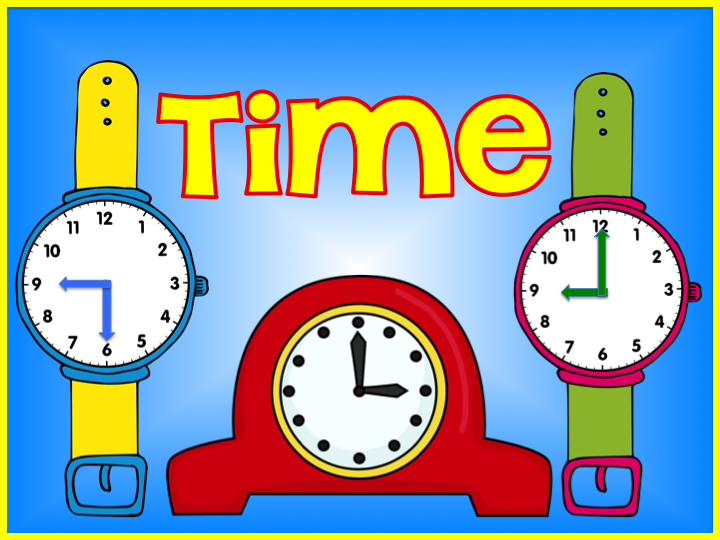 Image result for telling time clipart