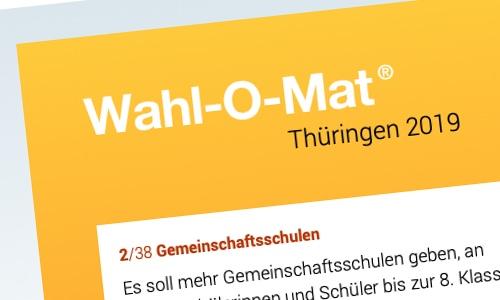 Wahl-O-Mat Thüringen 2019
