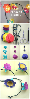light paper flower decoration