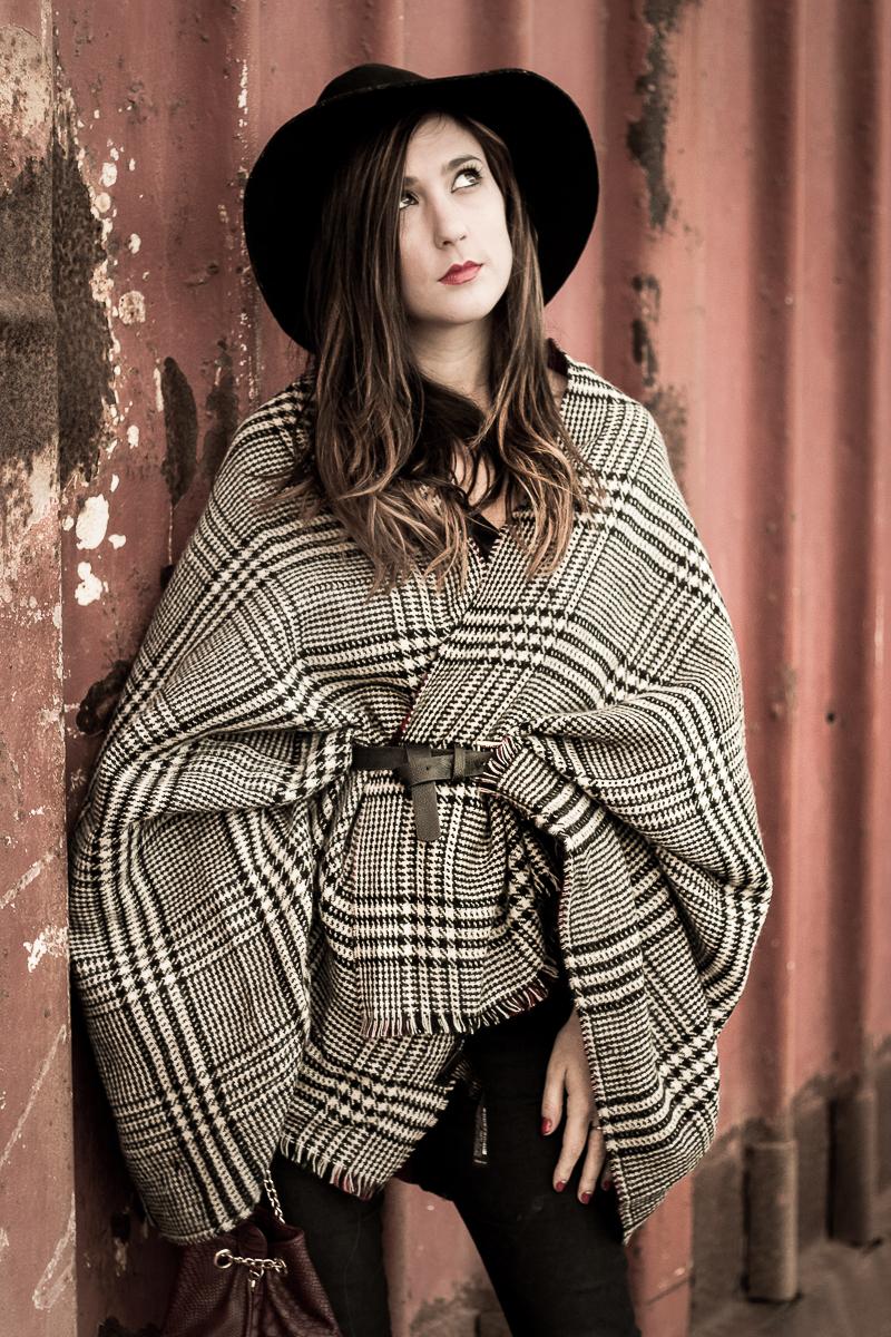 bufanda como capa