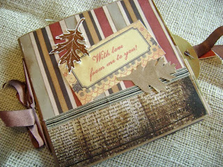 autumn leaves mini scrapbook by HBixbyArtworks Helen Bixby